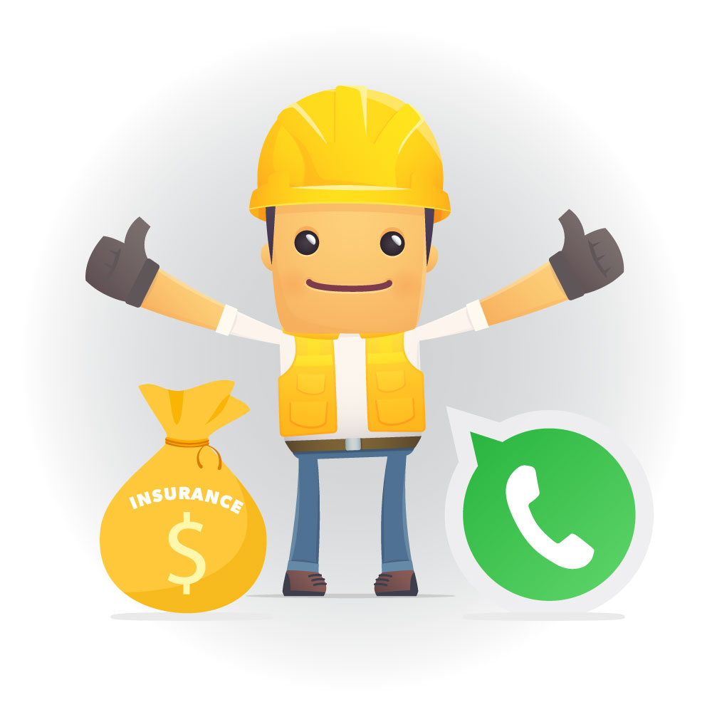 Contractor two thumbs up for insurance payment and communication promise